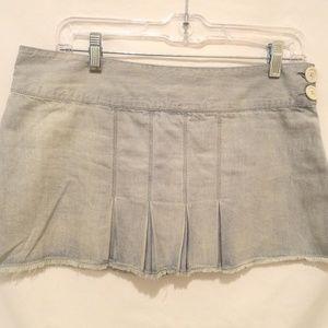 Hurley Denim Pleated Mini Skirt - 5